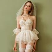 性感睡衣情趣睡衣性感新娘婚紗套裝吊帶睡裙透明內衣誘惑火辣激情超騷短裙 衣間迷你屋