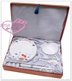 小花花日本精品♥ Hello Kitty 骨瓷餐具組 盤子飯碗 湯匙 筷子40周年 11112609