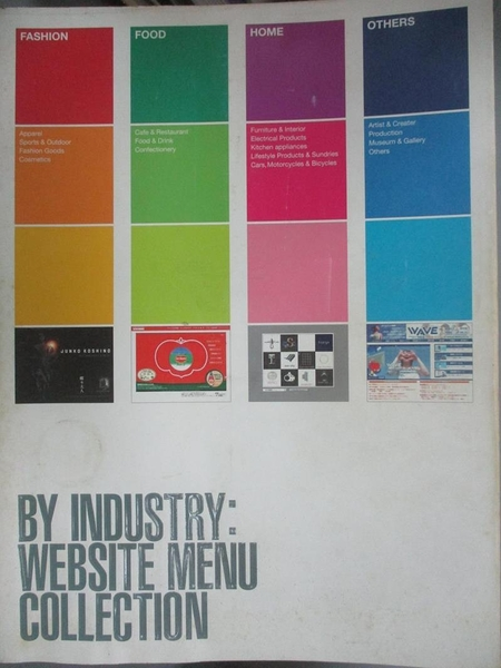 【書寶二手書T9/設計_EX2】By industry : website menu collection_PIE International Inc.