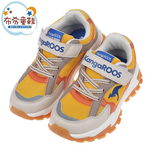 《布布童鞋》KangaROOS袋鼠酷炫TERMINATOR卡其黃兒童運動鞋(19~23公分) [ W1P991K ]