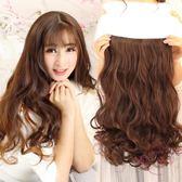 特厚假髮片假髮女接髮片中長直髮大波浪一片式五卡隱形無痕馬尾快速造型髮片