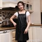 圍裙定制logo印字工作服餐廳奶茶店防水防油時尚男女廣告圍裙訂做 【優樂美】