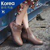 靴.雙皮帶卻爾西短靴-FM時尚美鞋-韓國精選.MICRO