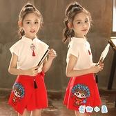 兒童漢服女童古裝套裙夏裝中國風裙子連身裙【奇趣小屋】