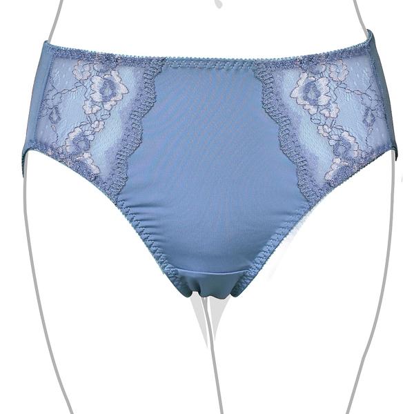EASY SHOP-唯愛動感 高腰三角褲(藍紫色)
