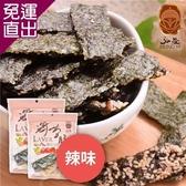 弘益傳香世家. 辣味海苔脆片 (40g/包,共三包)【免運直出】
