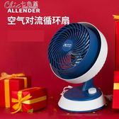 循環扇渦輪空氣對流電風扇迷你學生宿舍台式電風扇家用靜音「Chic七色堇」igo