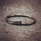 潮牌個性黑色釘子手環鐲【轉角1號】