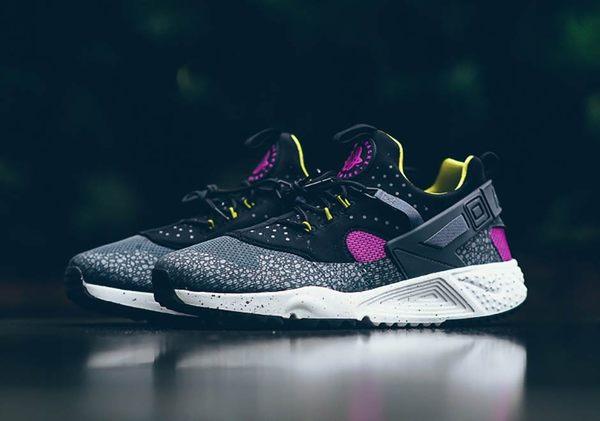 Nike Huarache Utility PRM 黑紫蟾蜍 潑墨底 男鞋【布魯克林】806979-500