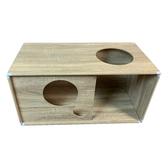 HOLA 堆疊格子櫃W70鏤空-淺木紋