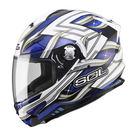 SOL SF-5 查克拉 白/藍 內墨片 全罩式安全帽 送透明鏡片 內襯可拆洗