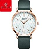 JULIUS 聚利時 舞彩戀曲皮錶帶腕錶-森林綠/38mm【JA-1114E】