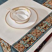 啟博中式現代鑲邊餐墊 雙層棉麻布藝加厚長方形 防燙隔熱墊 碗墊·享家生活館