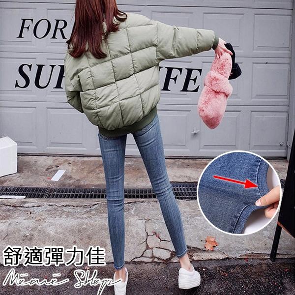 孕婦裝 MIMI別走【P61522】經典修身 特彈牛仔窄管褲 托腹褲 孕婦牛仔褲