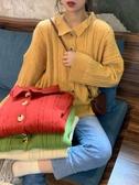 很仙的毛衣慵懶風秋冬2019新款小清新上衣寬鬆長袖開衫外套女針織 嬌糖小屋
