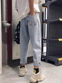 牛仔褲男長褲ulzzang做舊薄款寬鬆直筒日系百搭青少年潮流工裝褲 科炫數位旗艦店