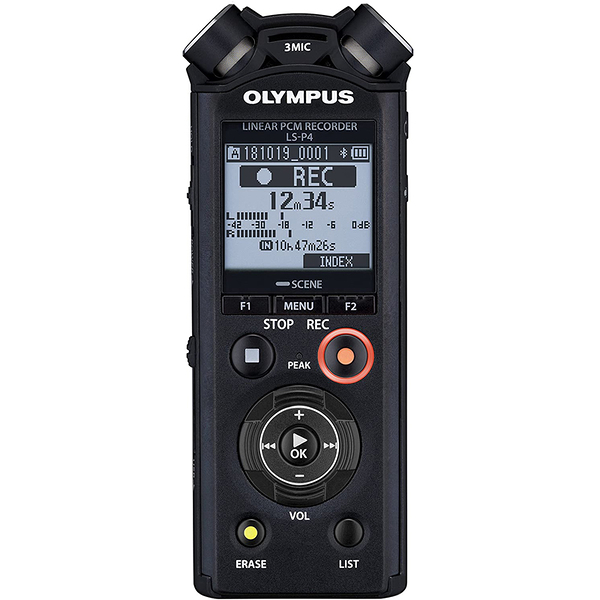 [9美國直購] Olympus 錄音機 錄音筆 Linear PCM Recorder LS-P4, Slate Tone/Test Tone, Video Production Enhancer