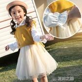 女童洋裝-秋裝新款洋氣兒童裙子小女孩長袖公主裙秋季蓬蓬紗 夏沫之戀
