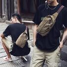 牧之逸胸包男士包包個性單肩包運動腰包休閒帆布迷你小包斜背包/側背包男  一米陽光