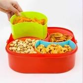 密封帶蓋分割零食盒(方形) 五穀 雜糧 食品 保鮮 廚房 收納 密封 茶葉 冰箱【A040】生活家精品