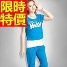 運動服套裝短袖韓版-有型潮流俏麗女戶外休閒服4色54d1【時尚巴黎】