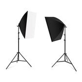 105瓦攝影燈套裝LED專業柔光箱簡易微型小型攝影棚淘寶大型產品拍攝道具拍照 莎拉嘿呦