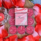 玫瑰香氛鋁殼蠟燭9入組-生活工場