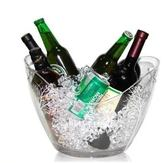 PC透明元寶冰桶香檳紅酒洋酒桶冰粒桶大小號塑料壓克力KTV啤酒桶igo 西城故事