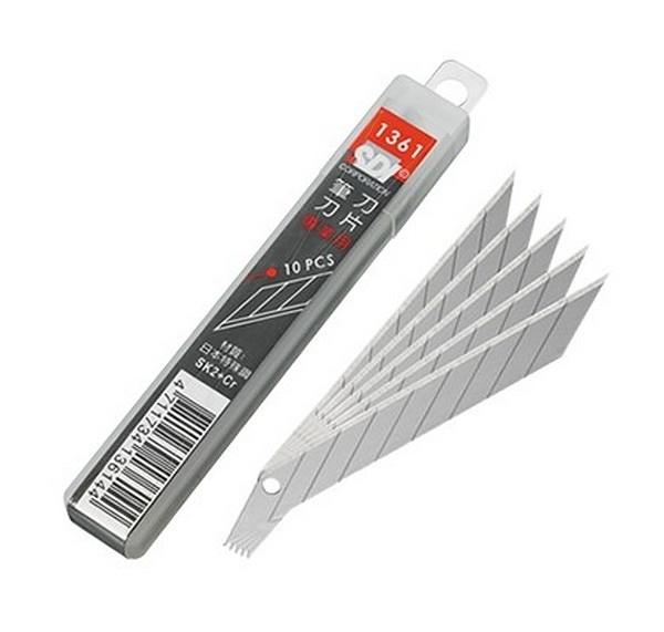 SDI 手牌 NO.1361 專業用30度斜角美工刀片/一大盒10管入(一管10片)共100片入(定60) 筆刀刀片 日本特殊鋼