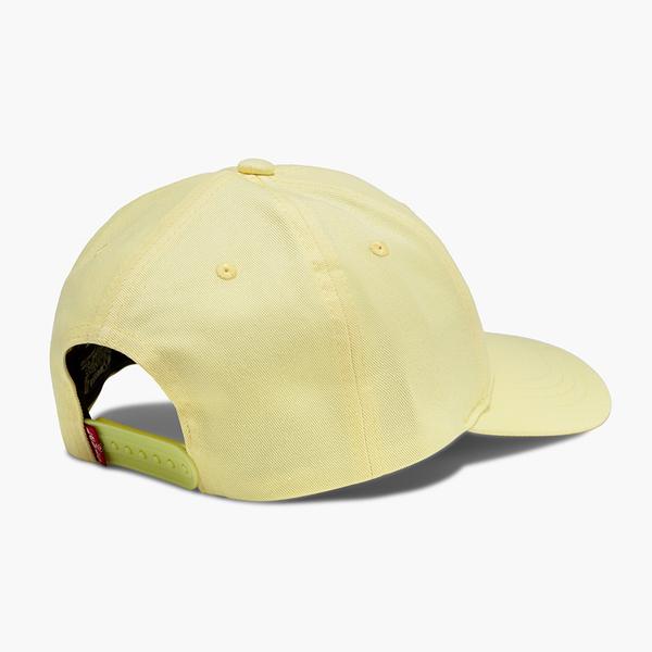 Levis 男女同款 可調式排釦棒球帽 / 刺繡Serif Logo / 奶油黃