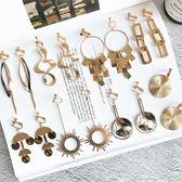 耳夾無耳洞可戴韓國復古簡約百搭個性金屬大圓圈耳飾氣質耳環夾式     西城故事
