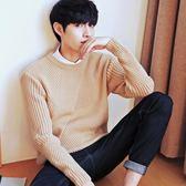 領套頭韓版潮流青年秋冬款寬松學生針織衫