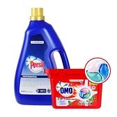 (組合+免運)PERSIL 濃縮強力洗衣精4.2L+OMO 3D洗衣膠囊225G