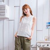 【Tiara Tiara】激安 緹花蕾絲下襬內搭背心(白/橘)