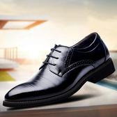 韓版正裝皮鞋 商務系帶男鞋 白搭單鞋【非凡上品】nx2023