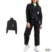 Puma Evied 女款 黑綠色 外套 防風外套 立領外套 運動 休閒 風衣外套 59777001