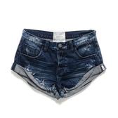OneTeaspoon 牛仔短褲 破褲 BANDITS -藍(女)