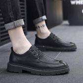皮鞋 男鞋秋季潮鞋款男士休閒鞋英倫韓版百搭馬丁板鞋潮流商務皮鞋 3C優購