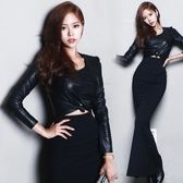 皮衣春裝韓版新款女裝性感顯瘦OL
