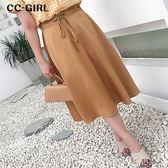 中大尺碼  顯瘦交叉綁帶長裙 - 適XL~4L《 19293H 》CC-GIRL