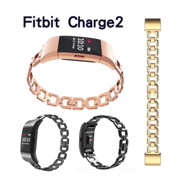 Fitbit Charge2 金屬錶帶 D字扣 玫瑰金 錶帶 智能手錶錶帶 不鏽鋼 錶帶
