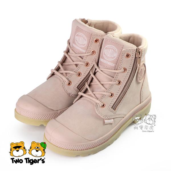Palladium PAMPA HI CUFF 防水童靴 粉膚 雙側拉鍊 中童鞋 NO.R4827