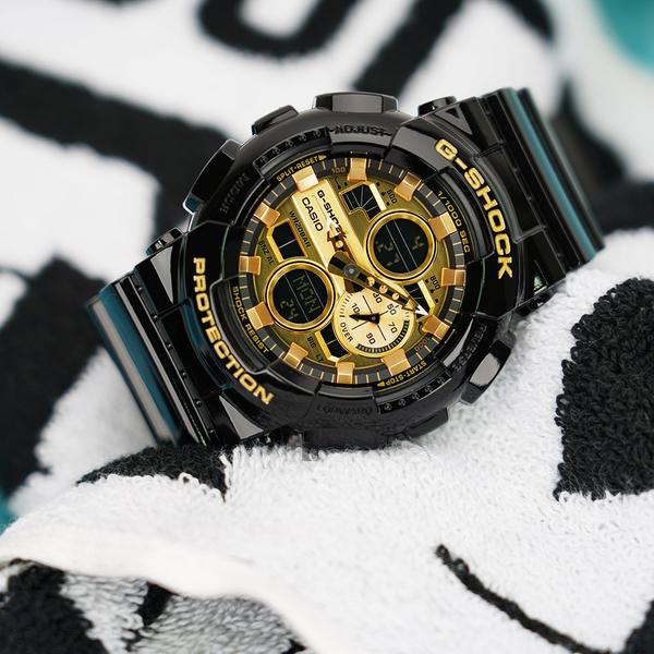 CASIO 卡西歐 G-SHOCK 人氣黑金手錶 GA-140GB-1A1