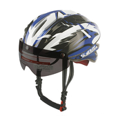 *阿亮單車* GVR 專業自行車安全帽 磁鐵跳躍系列(G203),附黑色鏡片,藍色《C77-197-L》