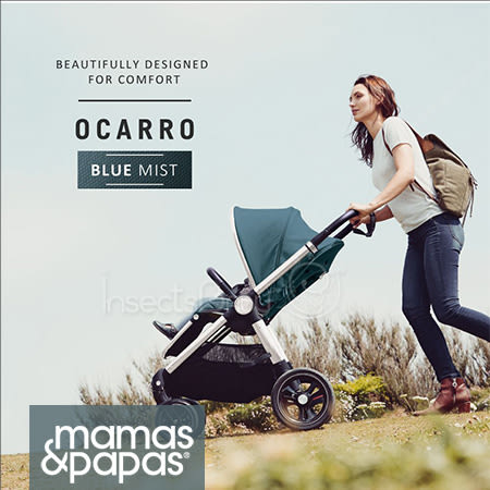 ✿蟲寶寶✿【英國mamas&papas】新生兒可平躺/快收/雙向/好推培林輪 嬰兒手推車 Ocarro 薄霧藍