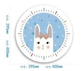 兔子B款靜音機芯12英寸靜音掛鐘動物時鐘可愛鐘錶臥室兒童房石英鐘  JQ