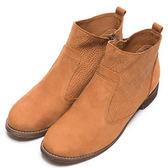 DIANA 質感紋路–俐落簡約壓紋側拉鍊短靴 – 棕★特價商品恕不能換貨★