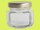 **好幫手生活雜鋪**RP-80扁六角瓶 (箱/72支) --- 玻璃罐.玻璃瓶.醬菜瓶.梅酒瓶.麻油瓶