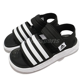 adidas 拖鞋 Duramo SL Sandal 黑白 黑 白 三條線 愛迪達 男鞋 女鞋 情侶鞋 【ACS】 FY8134