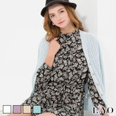 LIYO理優素色羅紋針織外套E637001